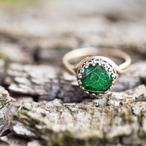 Green  Rustic jewelry