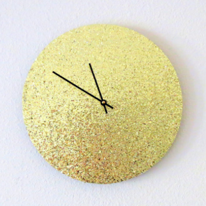 Retro gold glitter clock