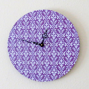 Purple kitchen clock